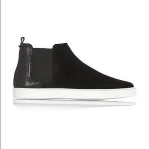 Lanvin Suede High Top Slip On Sneakers